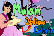 Princess Mulan Coloring Games – Princess Coloring Book