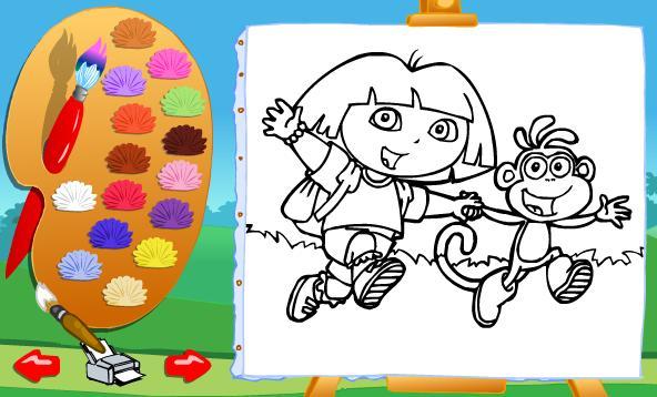 Igra Dora Istražuje Bojanka Igrica