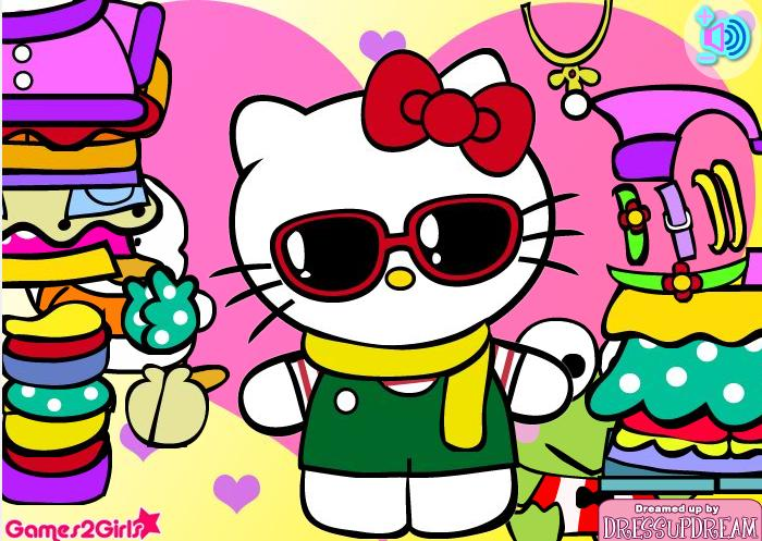 Oblačenje Hello Kitty Odijevanje Igre za Djevojčice