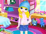 Slatka djevojčica oblačenje