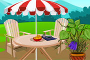 čajanka u dvorištu