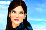 Našminkaj Sandru Bullock – StarDoll Igre Šminkanja