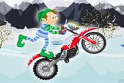 Vilenjak na motoru pomaže djedu mrazu