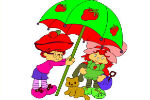 Strawberry Shortcake Coloring Game