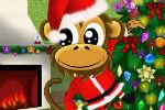 Igra Božićni Majmun Oblačenje Igrica