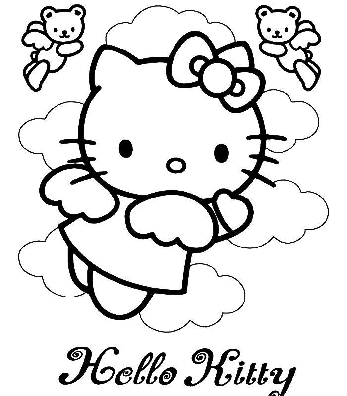 hello kitty slike za bojenje Hello Kitty Bojanke Za Printanje « Besplatne Igre za Cure i Djevojčice hello kitty slike za bojenje