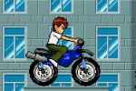 Ben 10 Motorcycle Driving Game