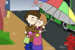 Kissing In The Rain – Kissing Games For Girls