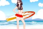Odjenite surfericu sportske igre za djevojcice