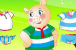 Play Go Go Pigs Dress Up Game