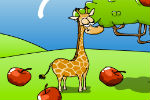 Giraffe Collects Apples – Animal Games
