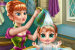 Frozen Anna's Baby Wash – Frozen Games